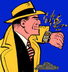 Dick Tracy's super-cool video watch dates back to 1931.